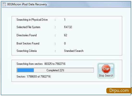 001Micron iPod Data Recovery screen shot
