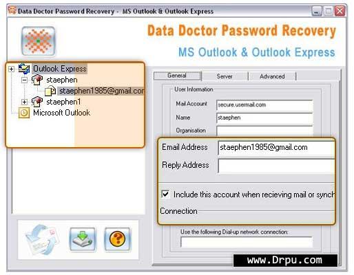 001Micron Outlook Password Viewer Tool full screenshot
