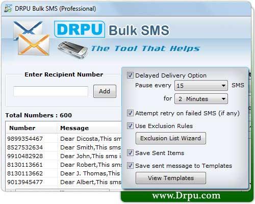 Bulk SMS Software for GSM Mobile Phone screenshot